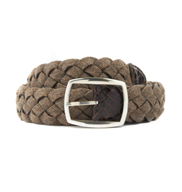 Brown & Tan Woven Wool Belt