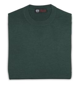 Cashmere / Silk Crew Neck Sweater, Emerald
