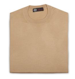 Cashmere / Silk Crew Neck Sweater, Gold