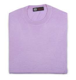 Cashmere / Silk Crew Neck Sweater, Lavender