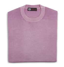 Cashmere / Silk Crew Neck Sweater, Pink