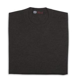Cashmere / Silk Crew Neck Sweater, Bark