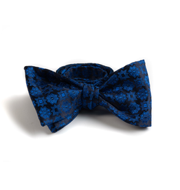 Blue Jacquard Bowtie with Medallions