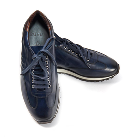 Leather Sneakers - Navy