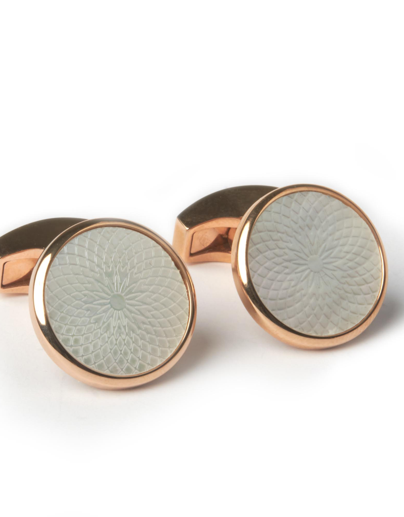 Rose Mother of Pearl Cufflins