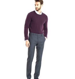 Gray Slim Wool Pants
