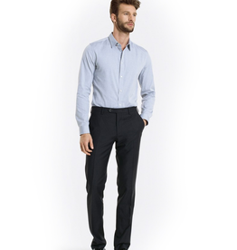 Charcoal Slim Wool Pants