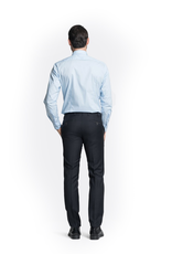 Navy Slim Wool Pants