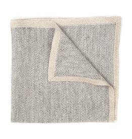 Silk blend Knit Pocket Square with Border