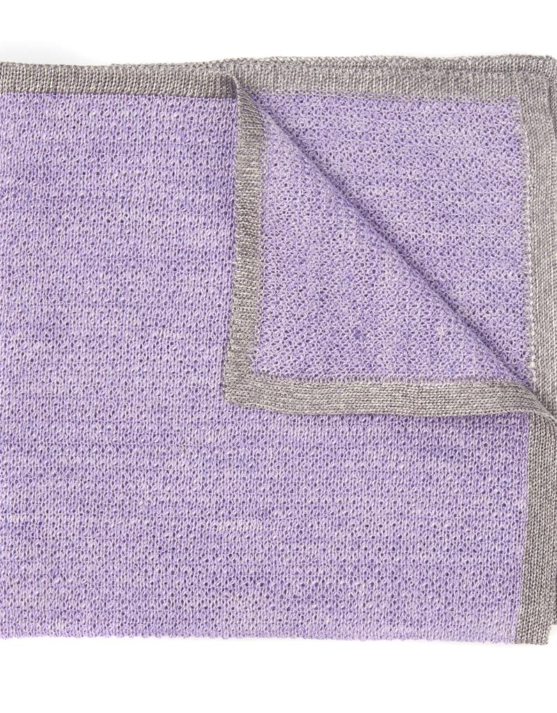 Silk blend Knit Pocket Square with Border
