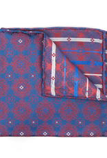 Medallion brocade, Navy and Red