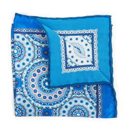 Satin Medallion Print, Blue