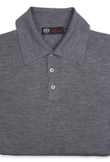 Cashmere / Silk Polo Sweater, Gray