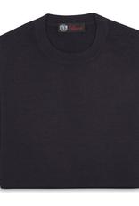 Cashmere / Silk Crew Neck Sweater, Eggplant