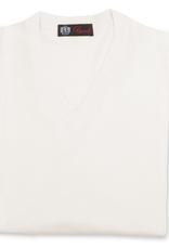 Cashmere / Silk V Neck Sweater, Cream
