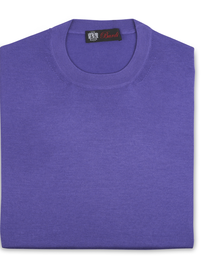 Cashmere / Silk Crew Neck Sweater, Purple