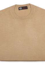 Cashmere & Silk Crew Neck Sweater, Gold