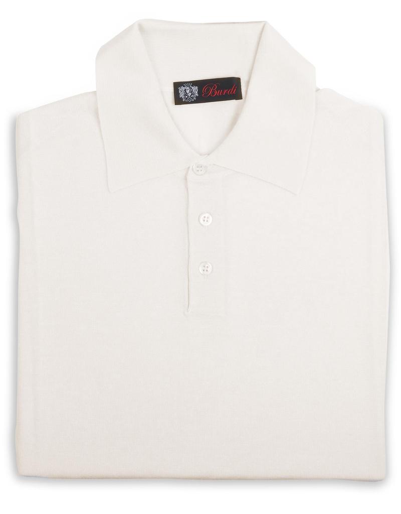 Cashmere / Silk Polo Sweater, Cream