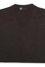 Cashmere / Silk V Neck Sweater, Brown