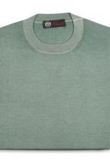 Cashmere / Silk Crew Neck Sweater, Sage