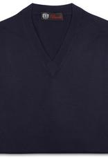 Cashmere / Silk V Neck Sweater, Navy