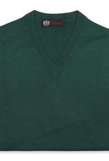 Cashmere / Silk V Neck Sweater, Emerald