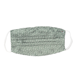 Silk Face mask with carrying pouch Green crescent