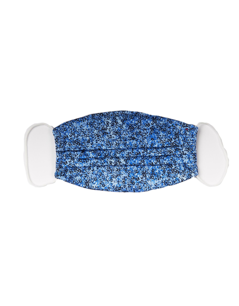 Silk Face mask, Blue abstract print