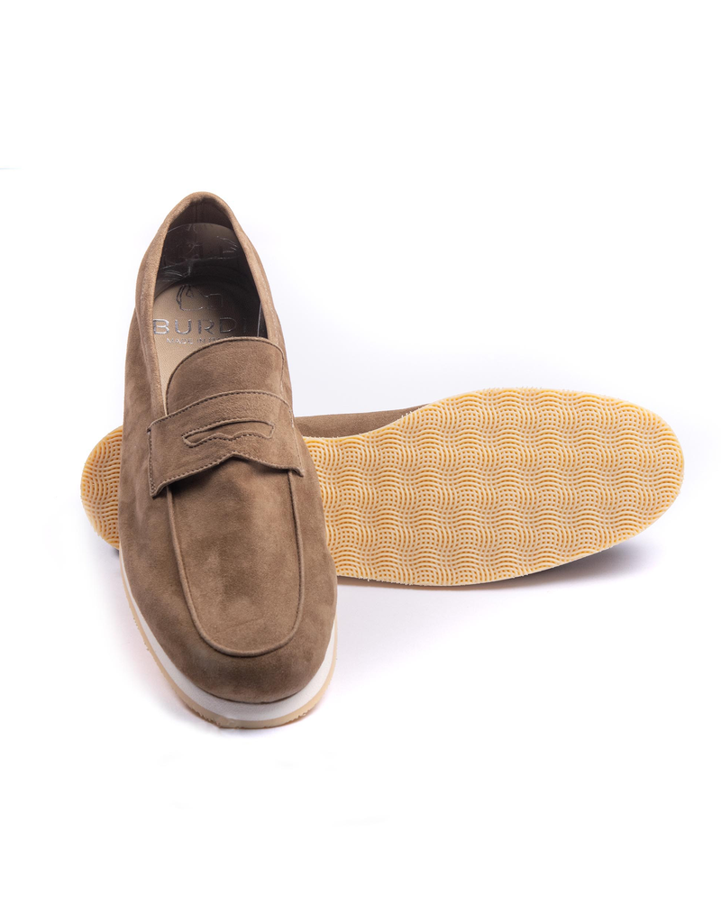 Taupe Suede Moccasins