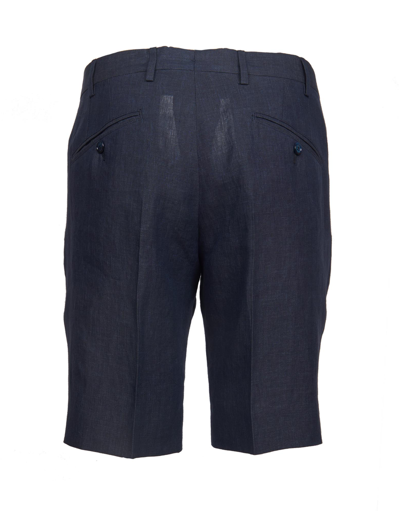 Linen Dress Shorts, Navy
