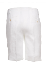 Linen Dress Shorts, White