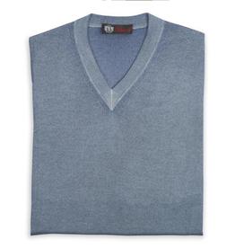 Cashmere / Silk V Neck Sweater, Lt. Blue