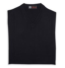 Cashmere / Silk V Neck Sweater, Midnight