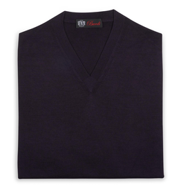 Cashmere / Silk V Neck Sweater, Eggplant
