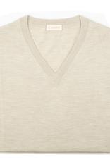 Cashmere / Silk V Neck Sweater, Tan