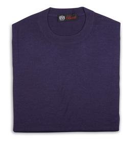 Cashmere & Silk Crew Neck Sweater, Purple