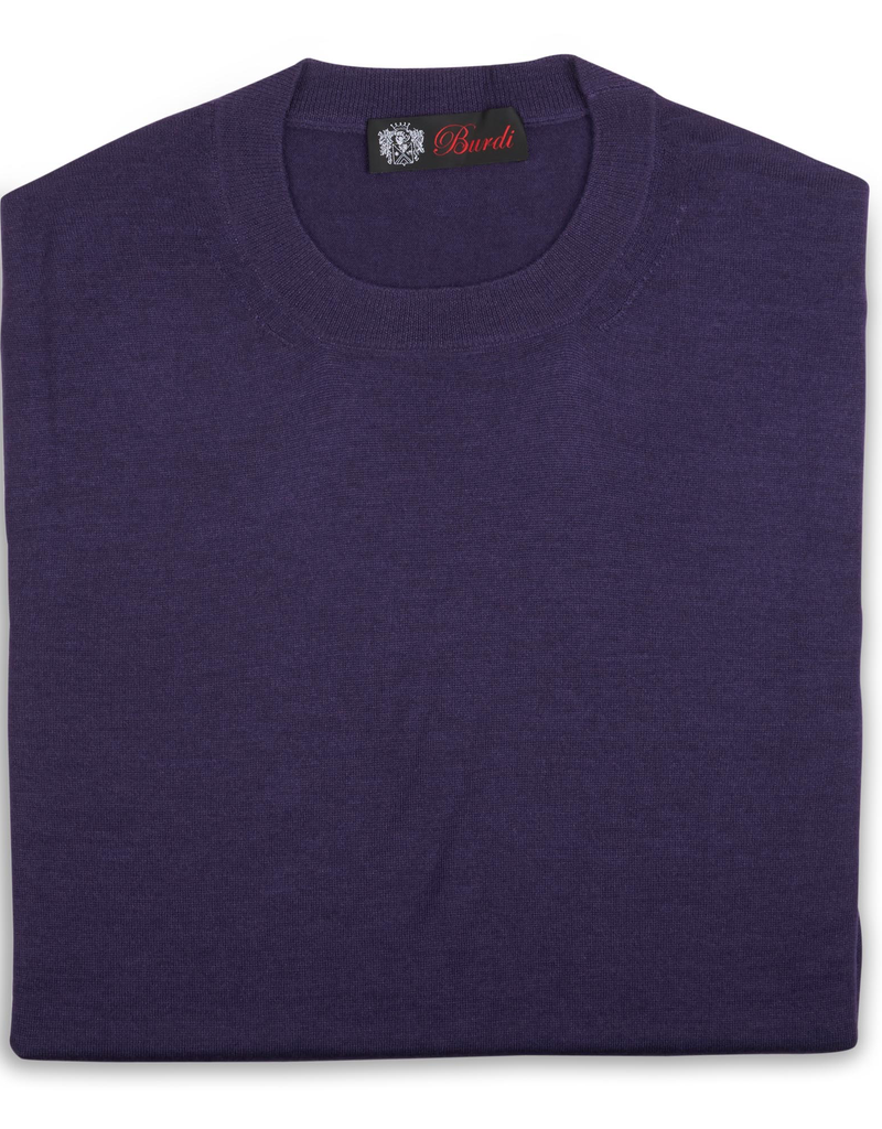 Cashmere & Silk Crew Neck Sweater, Purple
