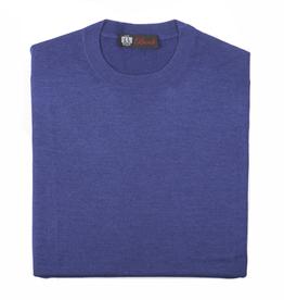 Cashmere & Silk Crew Neck Sweater, Cobalt