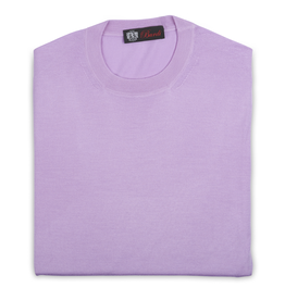Cashmere & Silk Crew Neck Sweater, Lavender