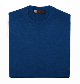 Cashmere / Silk Crew Neck Sweater, Royal Blue