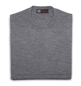 Cashmere & Silk Crew Neck Sweater, Gray