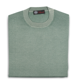 Cashmere / Silk Crew Neck Sweater, Sage
