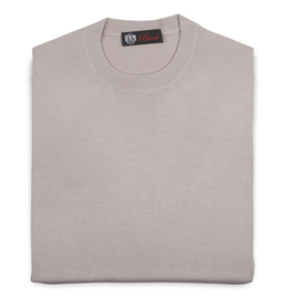 Cashmere / Silk Crew Neck Sweater, Beige