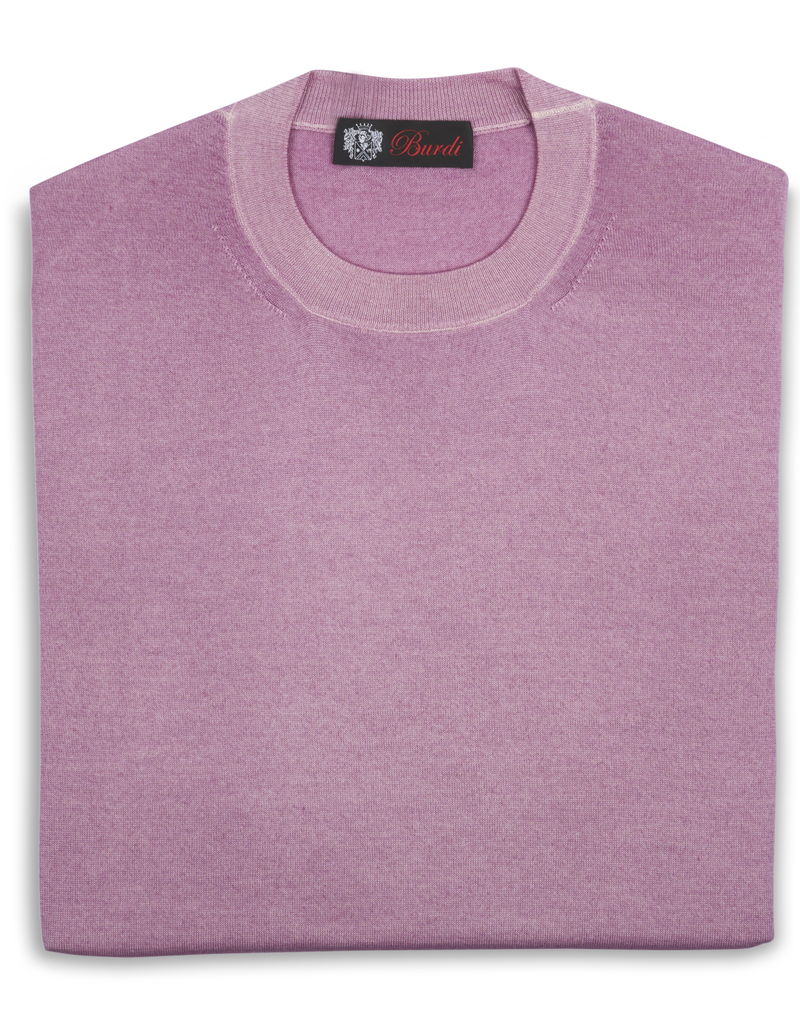 Cashmere / Silk Crew Neck Sweater, Pink