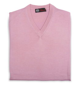 Cashmere / Silk V Neck Sweater, Pink