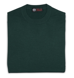Cashmere / Silk Crew Neck Sweater, Green