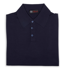 Cashmere / Silk Polo Sweater, Navy