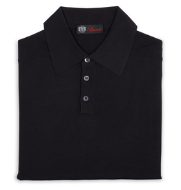 Cashmere / Silk Polo Sweater, Black