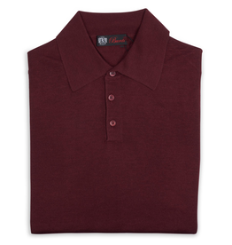 Cashmere / Silk Polo Sweater, Burgundy