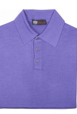 Cashmere / Silk Polo Sweater, Purple